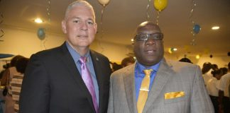 PM Chastanet and PM Harris