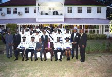 PM Harris, the Governor General and members of the Police High Command