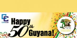 Guyana celebrates its Golden Jubilee Anniversary of Independence