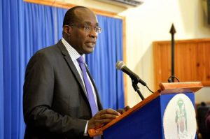 Minister of Education, Youth and Information, Hon. Ruel Reid