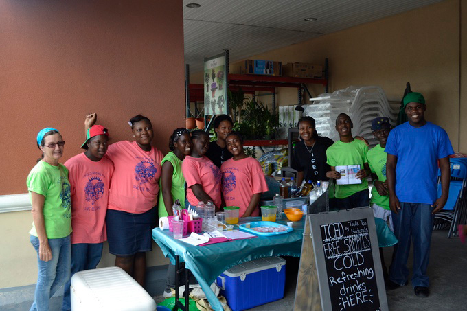 Adele students helping at our ICED pop up