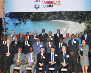 Delegates at the International Monetary Fund (IMF) 2016 High Level Caribbean Forum