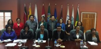 Kazim Hosein meets members of the senior management team
