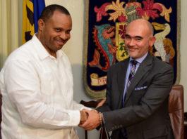 Christopher Sinckler, and IDB Representative, Juan Carlos De La Hoz Vinas