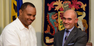 Christopher Sinckler, and IDB Representative, Juan Carlos De La Hoz Vinas