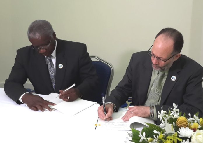 PM Stuart and CARICOM SG sign CARIFESTA XIII agreement