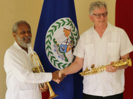 Governor General Receives Donation of Musical Instruments