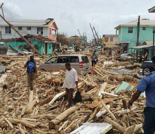 Dominica after the path of hurricane Maria.