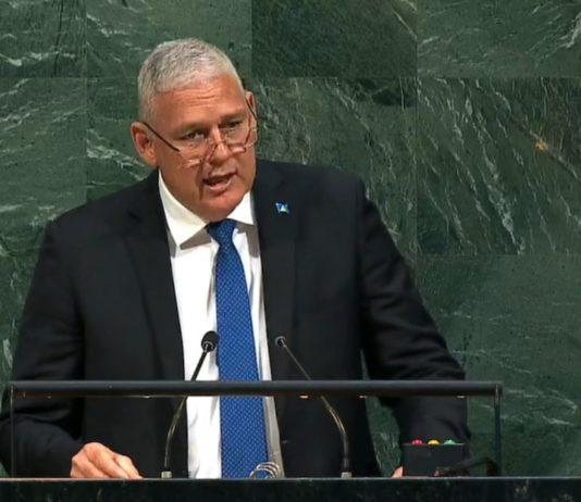 Allen Chastanet at the UN