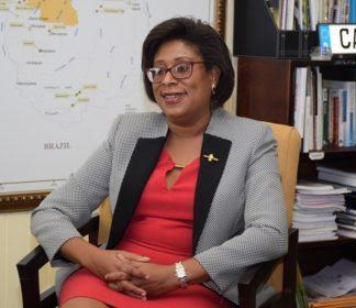 Hon. Catherine Hughes Minister of Public Telecommunications.