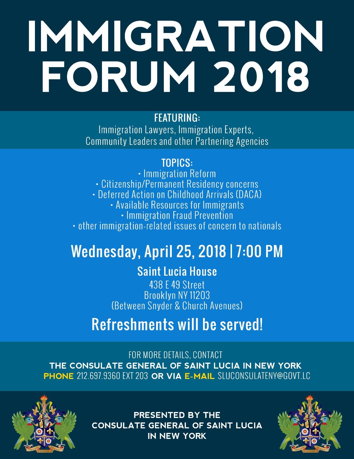 Immigration Forum 2018