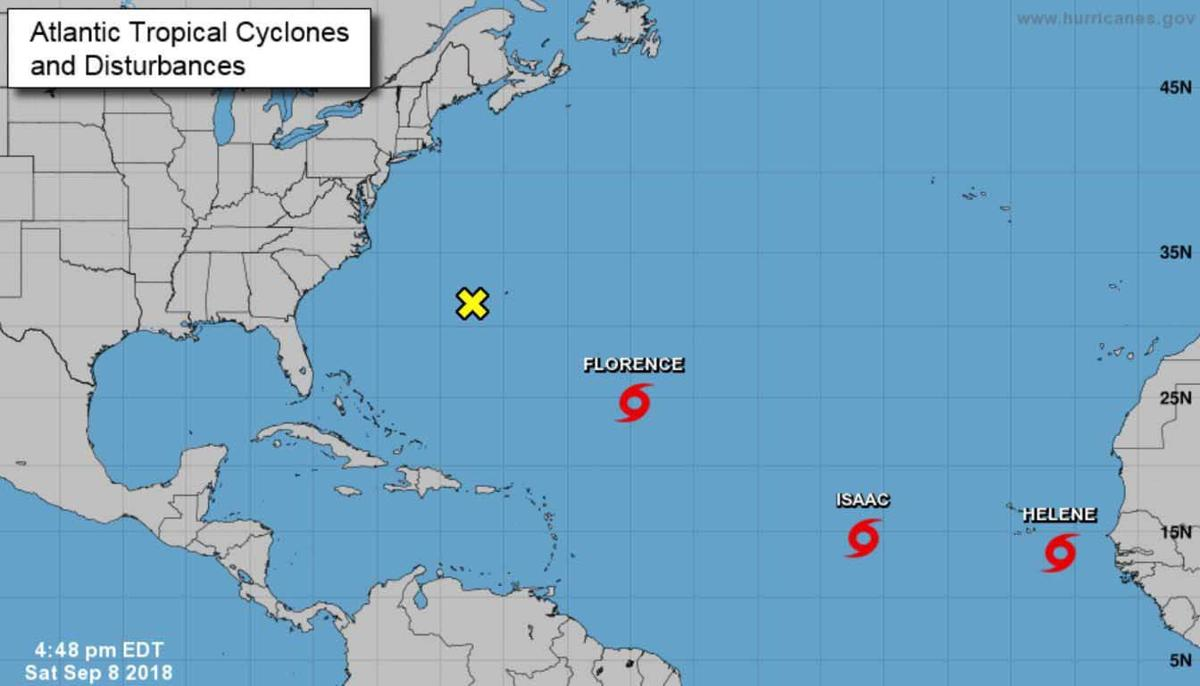 Tropical storms Helene and Isaac