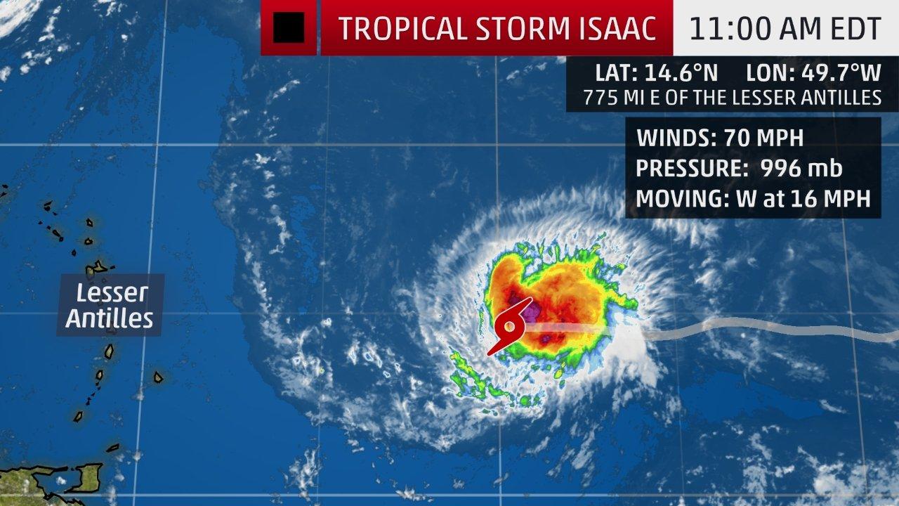 Tropical Storm Isaac Public Advisory #16