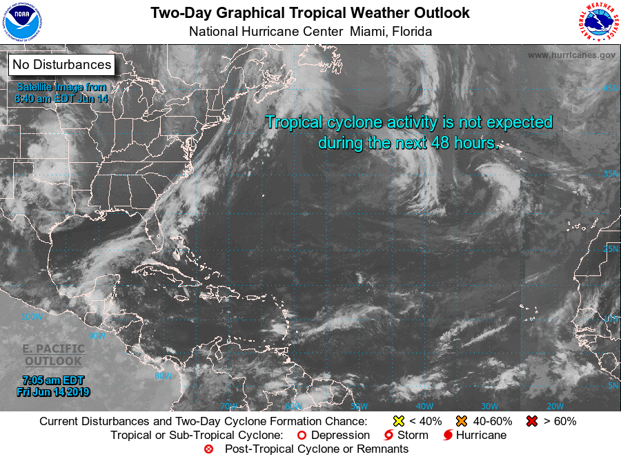 Tropical Weather Outlook - 800 AM EDT Fri Jun 14 2019