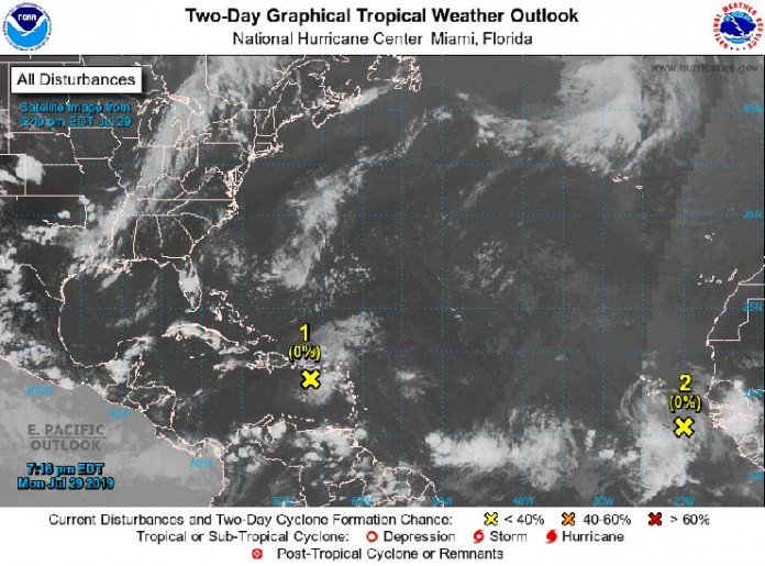 Tropical Weather Outlook 8pm-29-07-2091