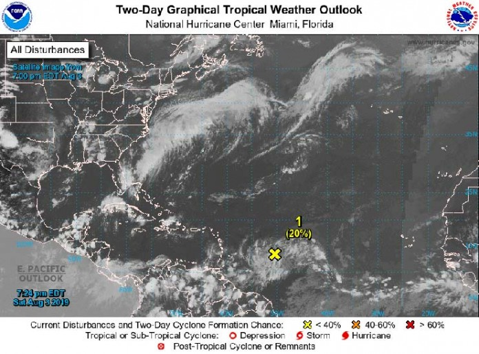 Tropical Weather Outlook-8-00 PM 03-Aug-2019
