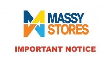 Massy Stores Closure for Tropical Storm Dorian