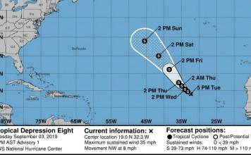 Tropical Depression Eight Public Advisory
